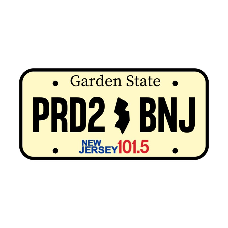 NJ101.5 License Plate Men's T-Shirt by NJ101.5's Artist Shop