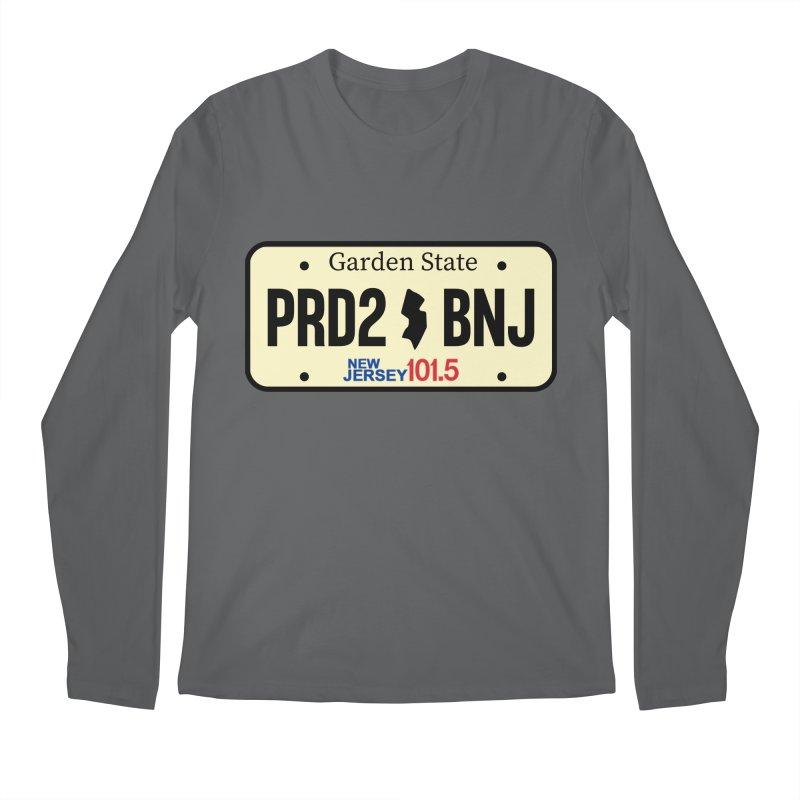 NJ101.5 License Plate Men's Longsleeve T-Shirt by NJ101.5's Artist Shop