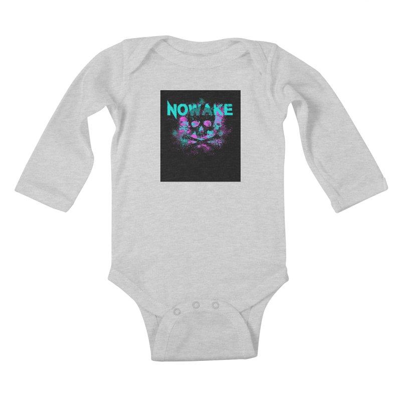NOWAKE 2019 Girly Skull Kids Baby Longsleeve Bodysuit by NOWAKE's Artist Shop