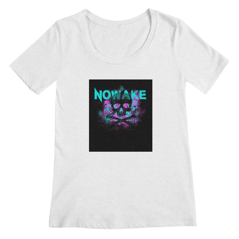 NOWAKE 2019 Girly Skull Women's Regular Scoop Neck by NOWAKE's Artist Shop