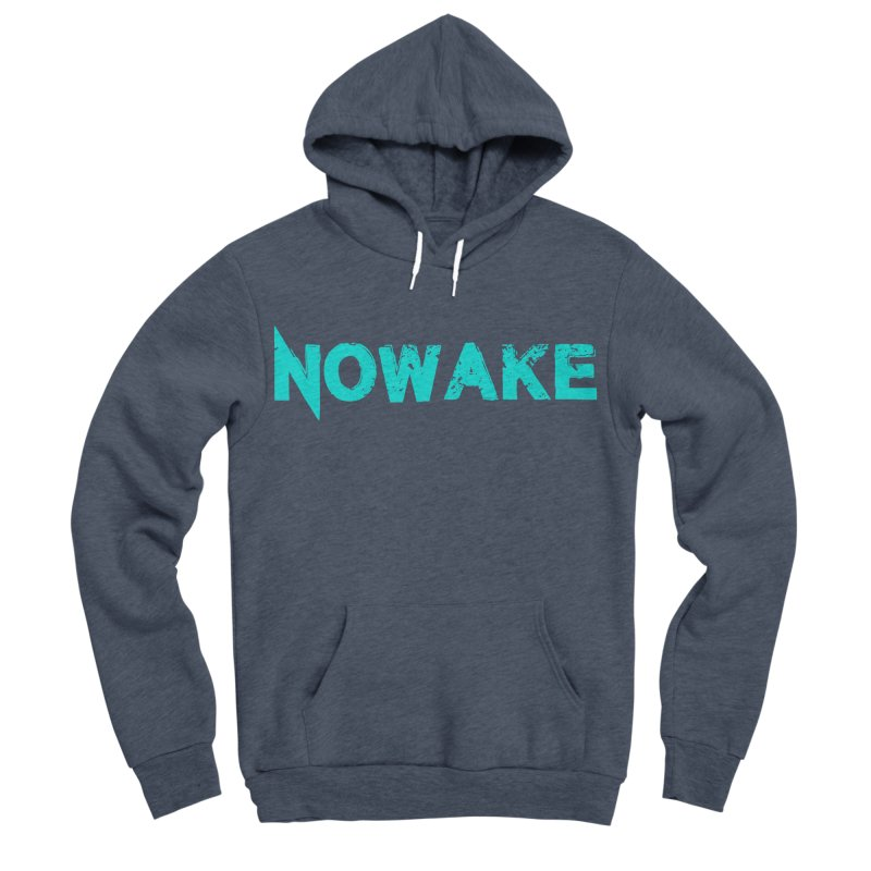 NOWAKE Teal Logo Men's Sponge Fleece Pullover Hoody by NOWAKE's Artist Shop