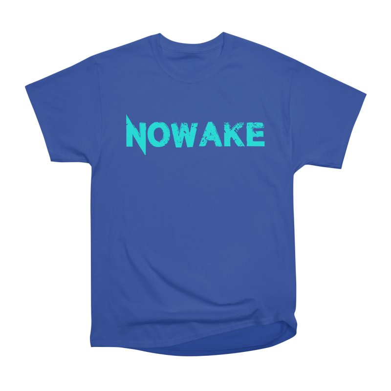 NOWAKE Teal Logo Women's Heavyweight Unisex T-Shirt by NOWAKE's Artist Shop