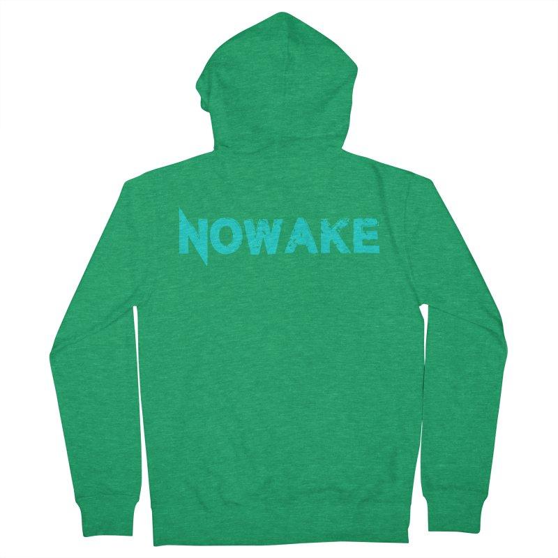 NOWAKE Teal Logo Women's French Terry Zip-Up Hoody by NOWAKE's Artist Shop