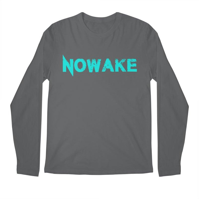 NOWAKE Teal Logo Men's Longsleeve T-Shirt by NOWAKE's Artist Shop