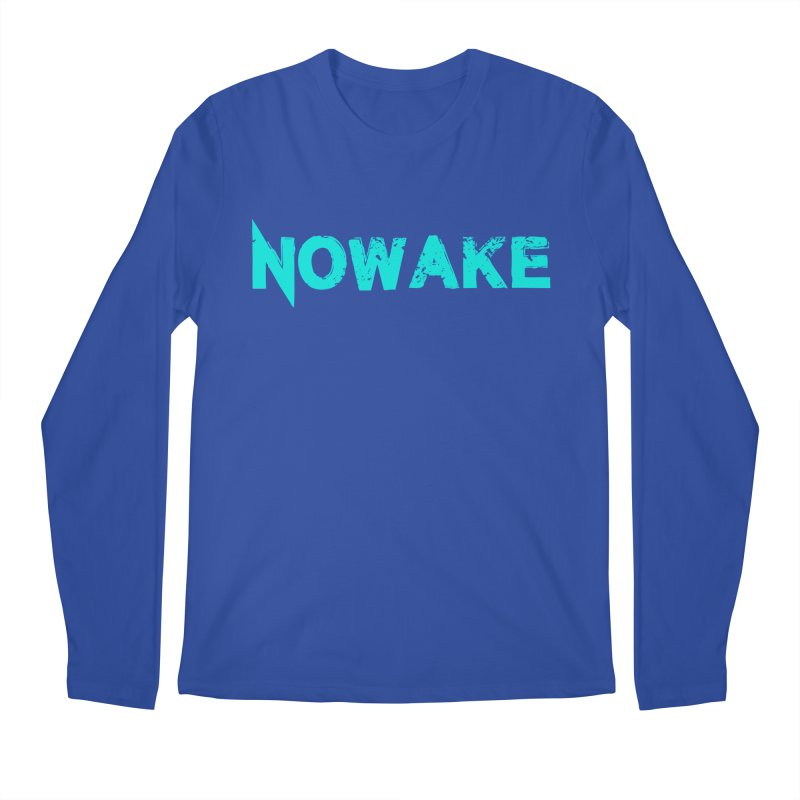 NOWAKE Teal Logo Men's Regular Longsleeve T-Shirt by NOWAKE's Artist Shop