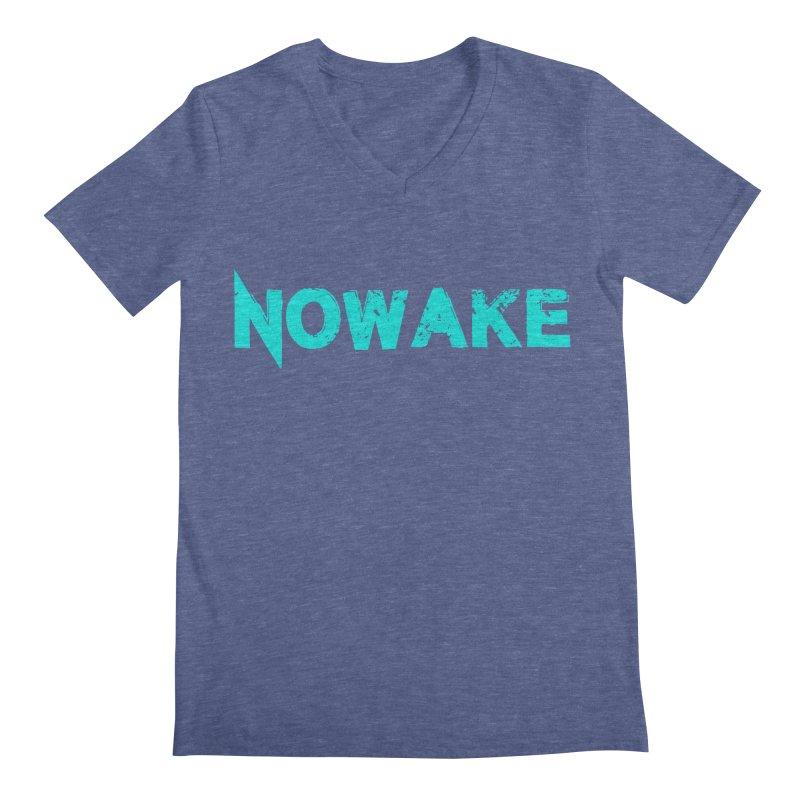 NOWAKE Teal Logo Men's Regular V-Neck by NOWAKE's Artist Shop