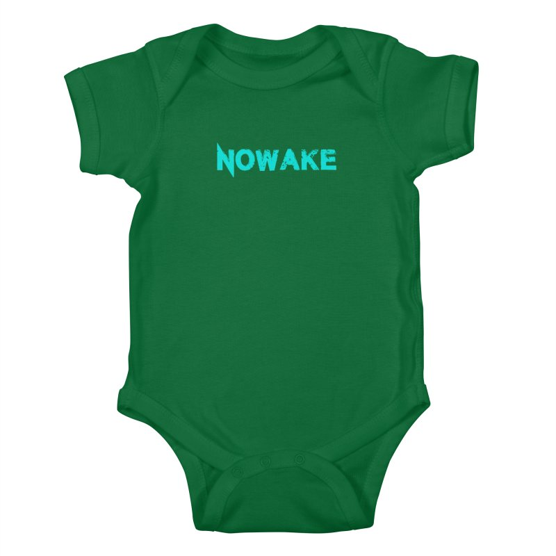 NOWAKE Teal Logo Kids Baby Bodysuit by NOWAKE's Artist Shop