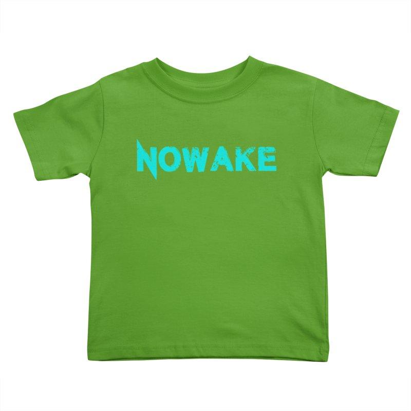 NOWAKE Teal Logo Kids Toddler T-Shirt by NOWAKE's Artist Shop