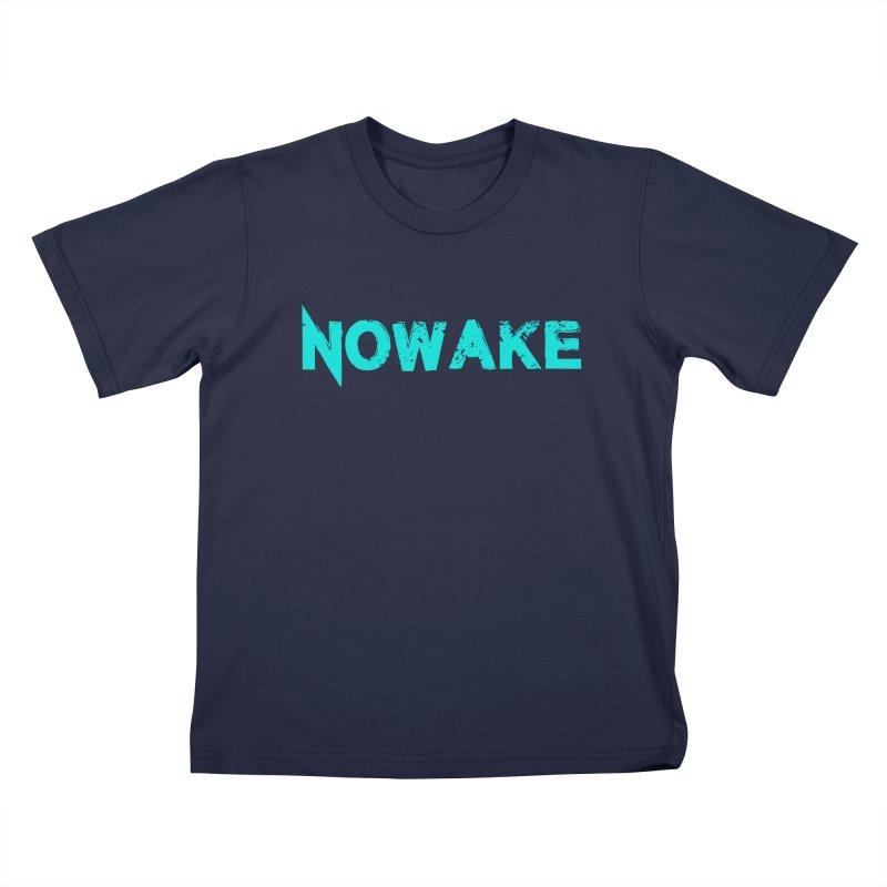 NOWAKE Teal Logo Kids T-Shirt by NOWAKE's Artist Shop