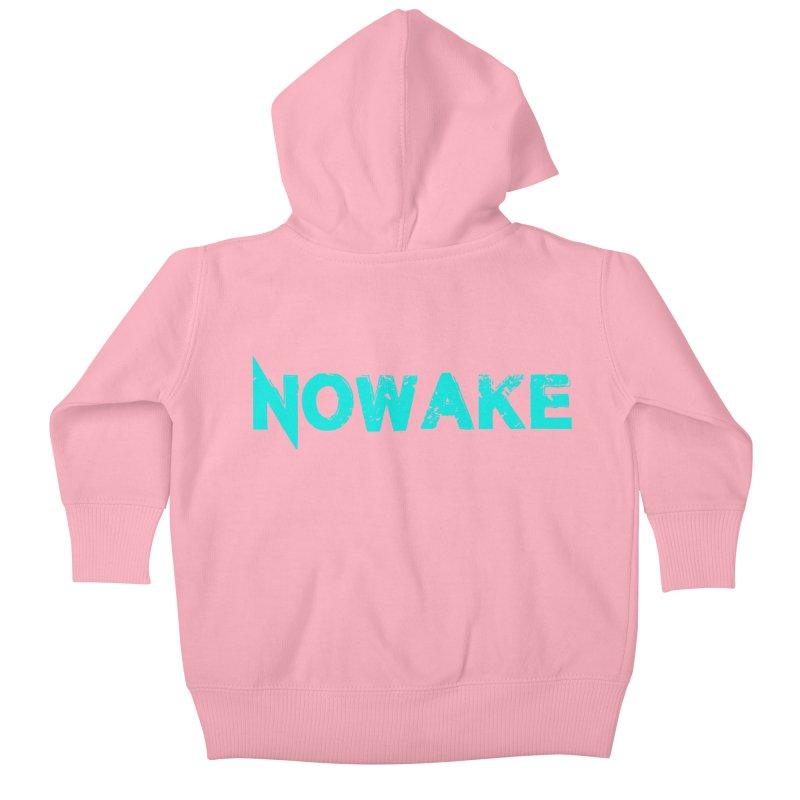 NOWAKE Teal Logo Kids Baby Zip-Up Hoody by NOWAKE's Artist Shop