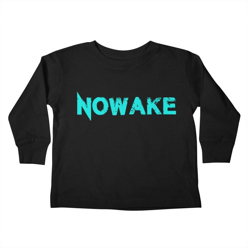 NOWAKE Teal Logo Kids Toddler Longsleeve T-Shirt by NOWAKE's Artist Shop