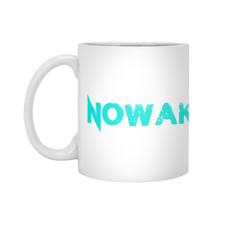 NOWAKE Teal Logo Accessories Mug by NOWAKE's Artist Shop
