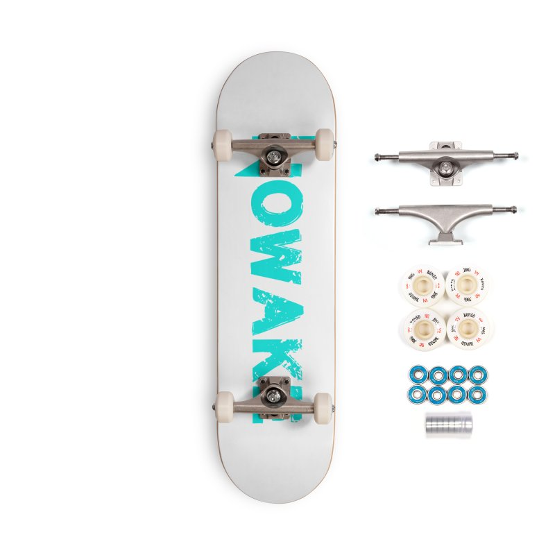 NOWAKE Teal Logo Accessories Complete - Premium Skateboard by NOWAKE's Artist Shop