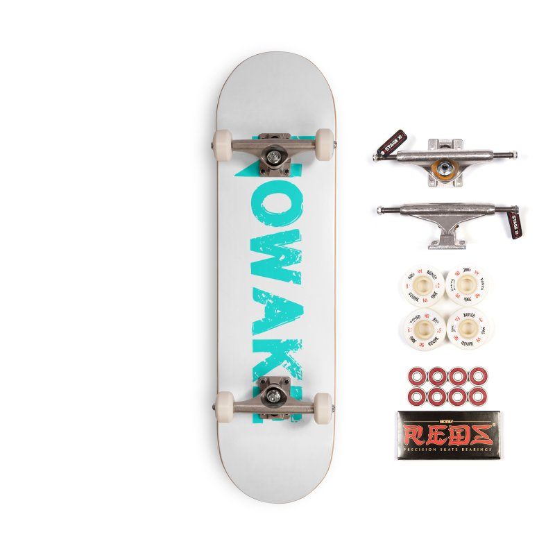NOWAKE Teal Logo Accessories Complete - Pro Skateboard by NOWAKE's Artist Shop