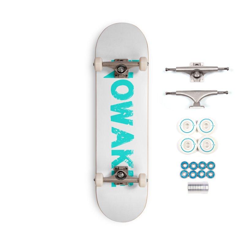NOWAKE Teal Logo Accessories Complete - Basic Skateboard by NOWAKE's Artist Shop