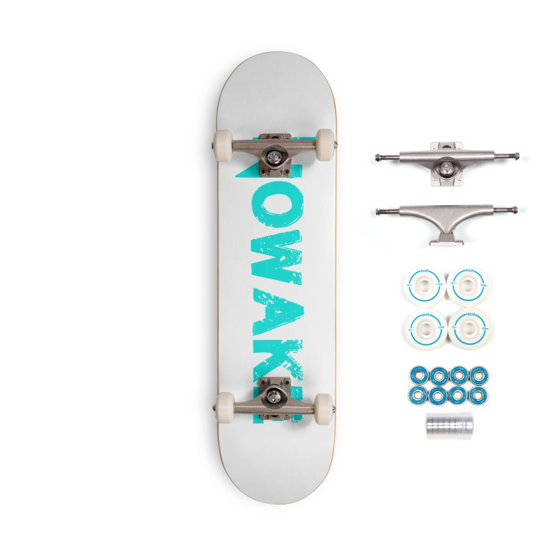 NOWAKE Teal Logo Accessories Skateboard by NOWAKE's Artist Shop