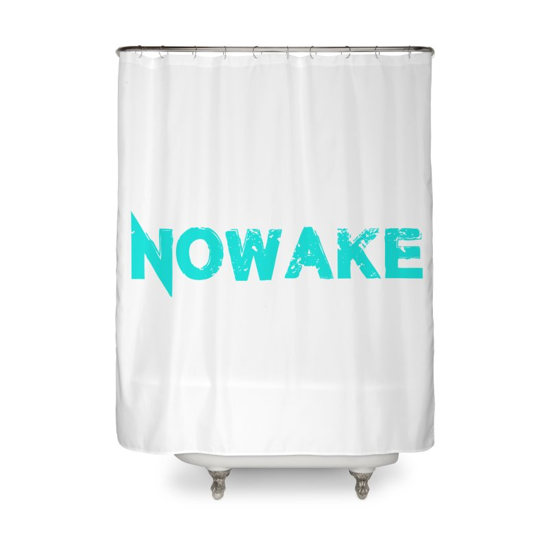 NOWAKE Teal Logo Home Shower Curtain by NOWAKE's Artist Shop