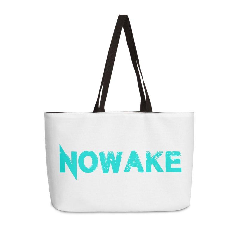 NOWAKE Teal Logo Accessories Weekender Bag Bag by NOWAKE's Artist Shop
