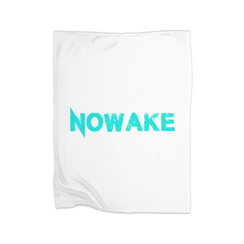 NOWAKE Teal Logo Home Blanket by NOWAKE's Artist Shop