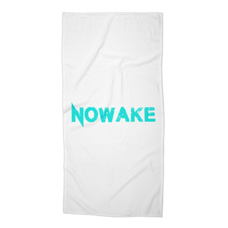 NOWAKE Teal Logo Accessories Beach Towel by NOWAKE's Artist Shop