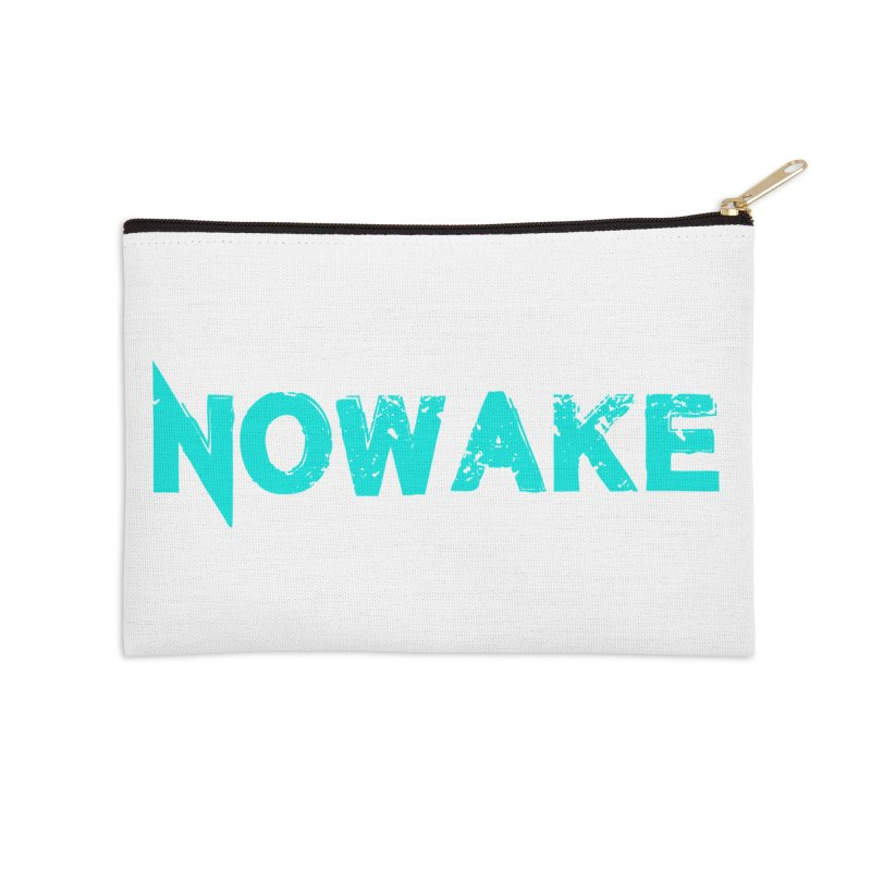 NOWAKE Teal Logo Accessories Zip Pouch by NOWAKE's Artist Shop