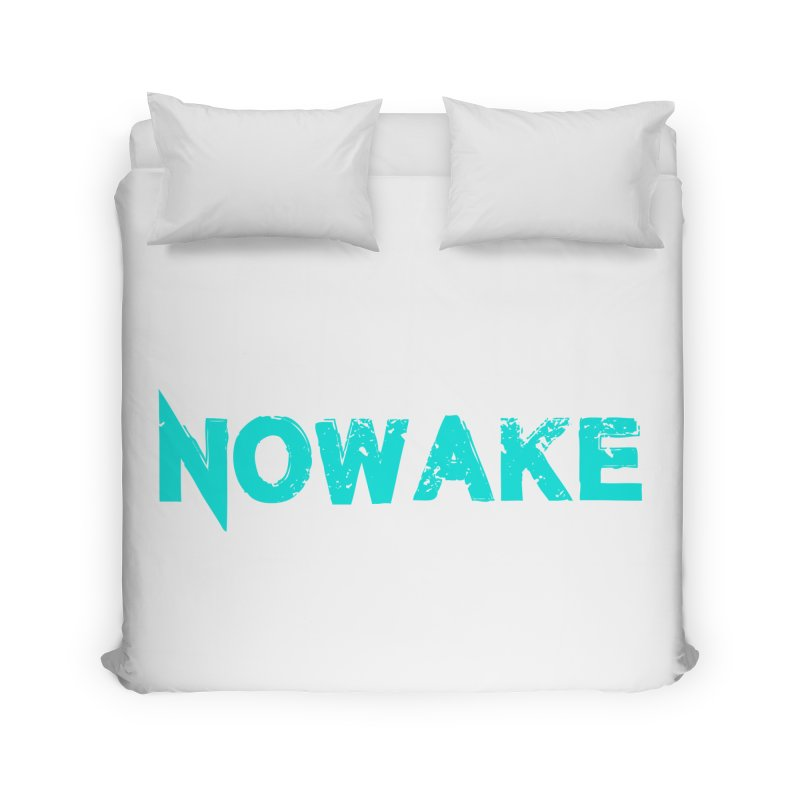 NOWAKE Teal Logo Home Duvet by NOWAKE's Artist Shop