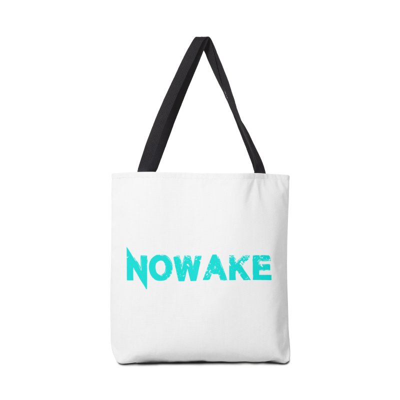 NOWAKE Teal Logo Accessories Tote Bag Bag by NOWAKE's Artist Shop