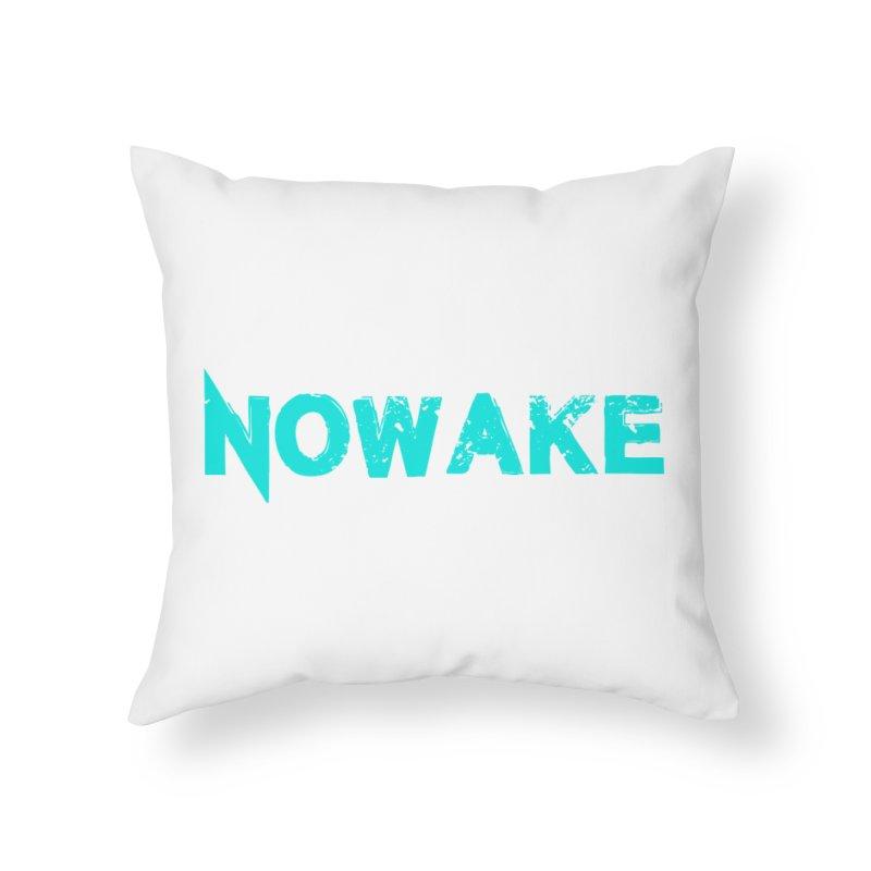 NOWAKE Teal Logo Home Throw Pillow by NOWAKE's Artist Shop