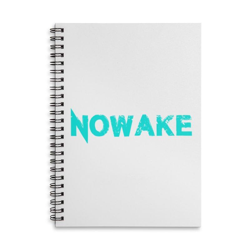NOWAKE Teal Logo Accessories Notebook by NOWAKE's Artist Shop