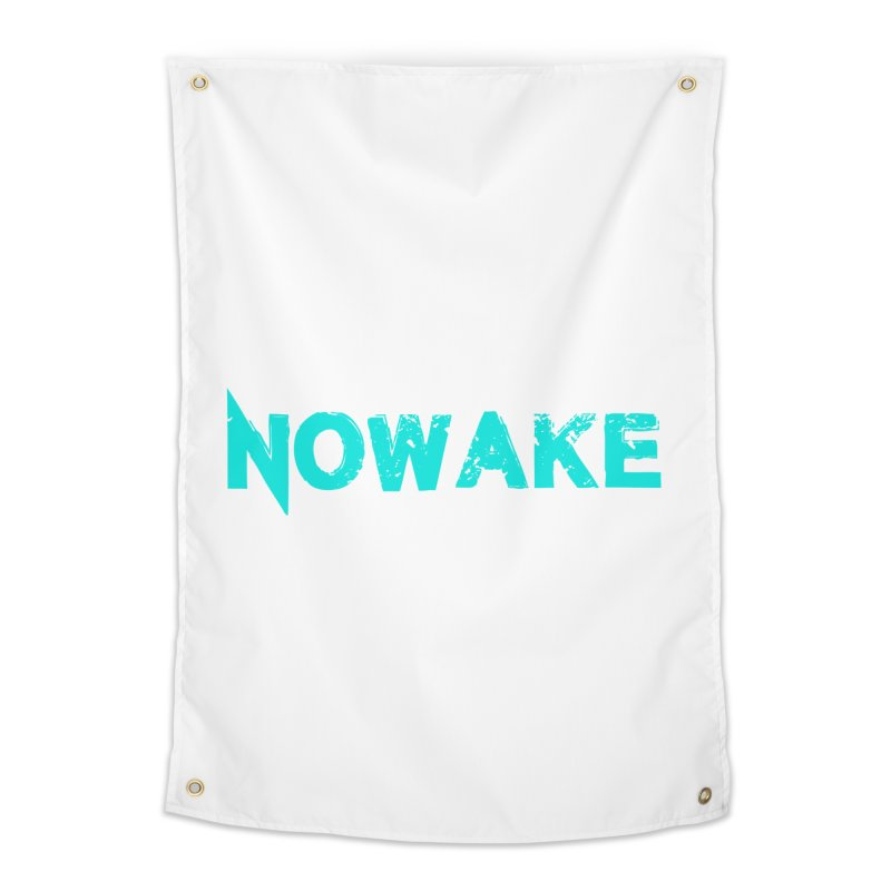 NOWAKE Teal Logo Home Tapestry by NOWAKE's Artist Shop