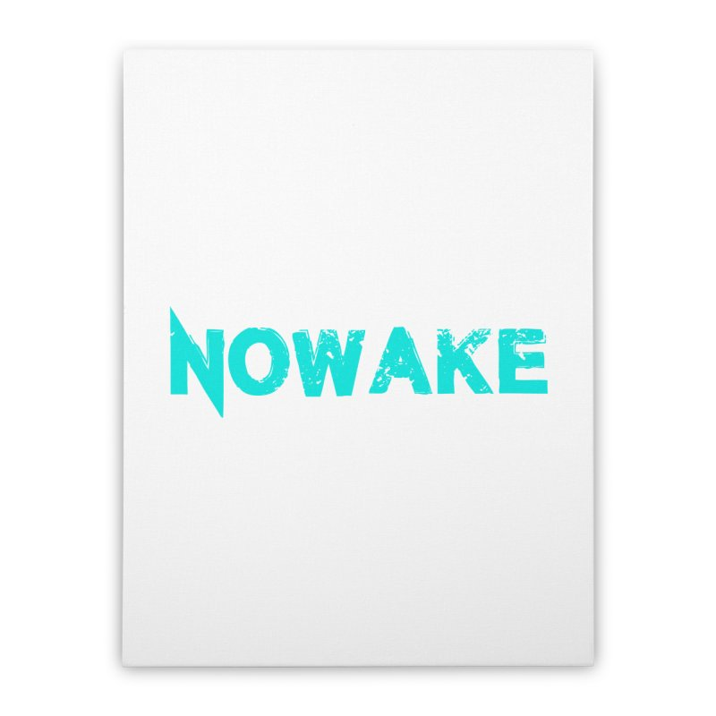 NOWAKE Teal Logo Home Stretched Canvas by NOWAKE's Artist Shop