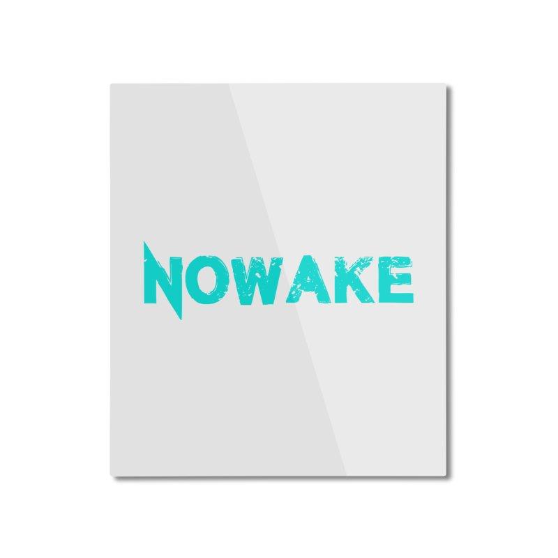 NOWAKE Teal Logo Home Mounted Aluminum Print by NOWAKE's Artist Shop
