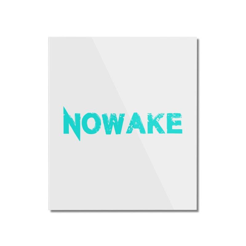 NOWAKE Teal Logo Home Mounted Acrylic Print by NOWAKE's Artist Shop