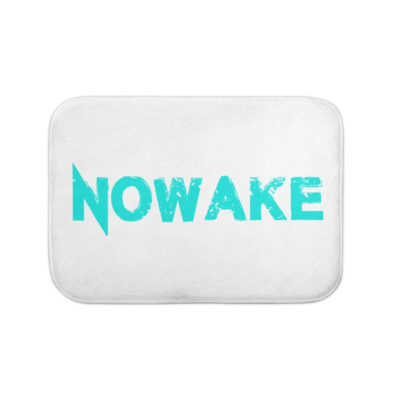 NOWAKE Teal Logo Home Bath Mat by NOWAKE's Artist Shop