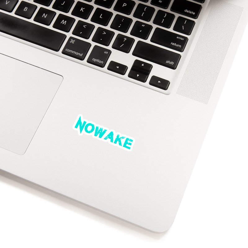 NOWAKE Teal Logo Accessories Sticker by NOWAKE's Artist Shop