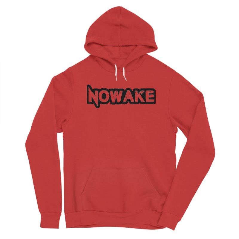 NOWAKE Black Outline Logo Men's Pullover Hoody by NOWAKE's Artist Shop