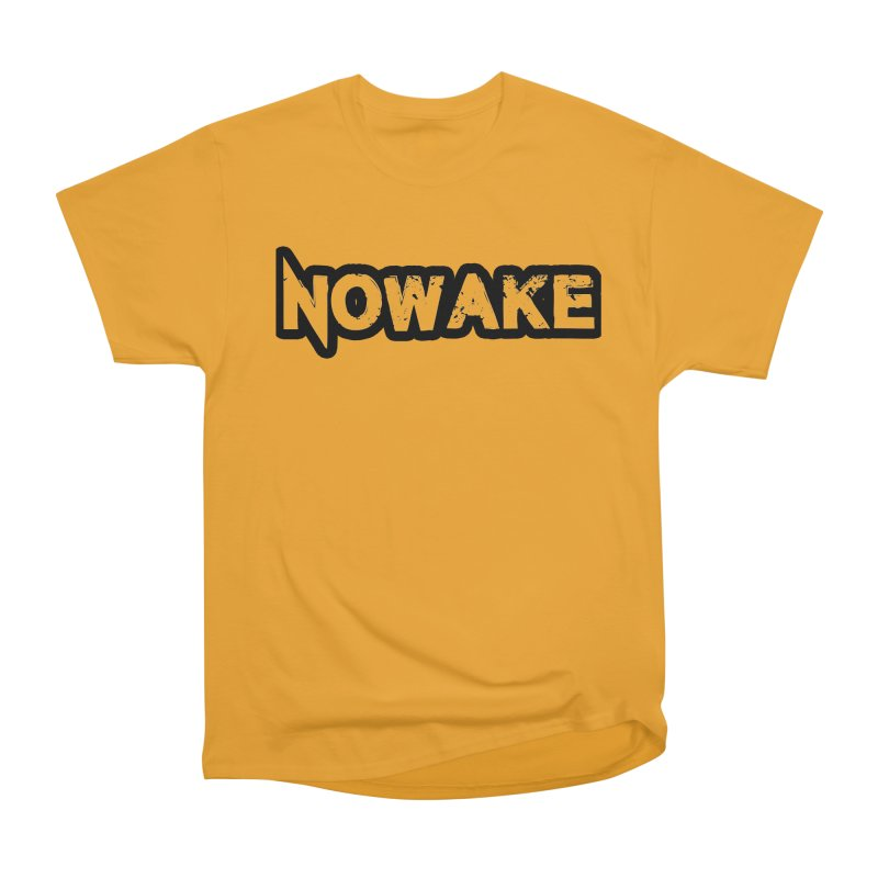 NOWAKE Black Outline Logo Men's Heavyweight T-Shirt by NOWAKE's Artist Shop