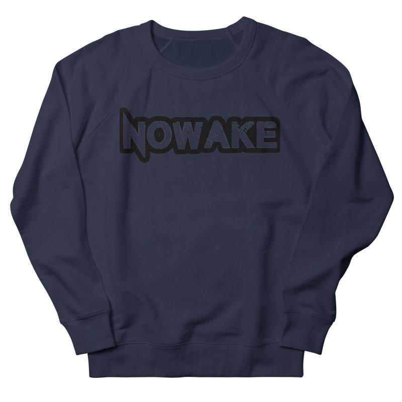 NOWAKE Black Outline Logo Men's French Terry Sweatshirt by NOWAKE's Artist Shop