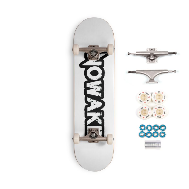 NOWAKE Black Outline Logo Accessories Complete - Premium Skateboard by NOWAKE's Artist Shop
