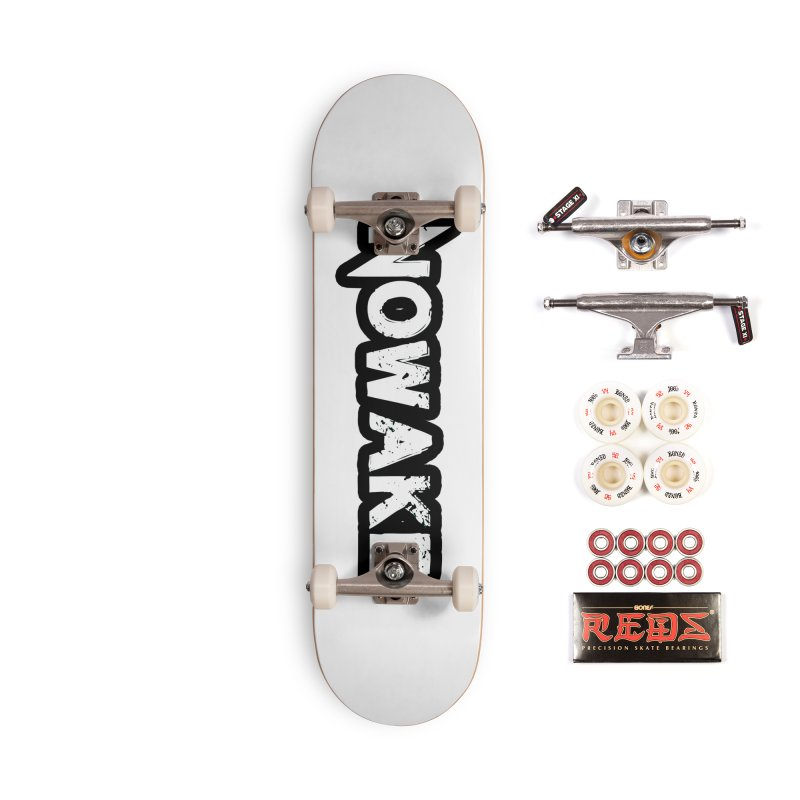 NOWAKE Black Outline Logo Accessories Complete - Pro Skateboard by NOWAKE's Artist Shop