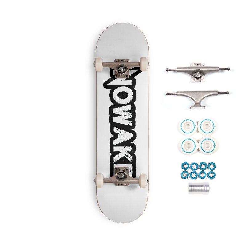 NOWAKE Black Outline Logo Accessories Skateboard by NOWAKE's Artist Shop