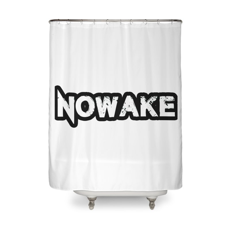 NOWAKE Black Outline Logo Home Shower Curtain by NOWAKE's Artist Shop