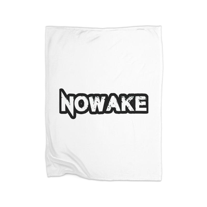 NOWAKE Black Outline Logo Home Fleece Blanket Blanket by NOWAKE's Artist Shop