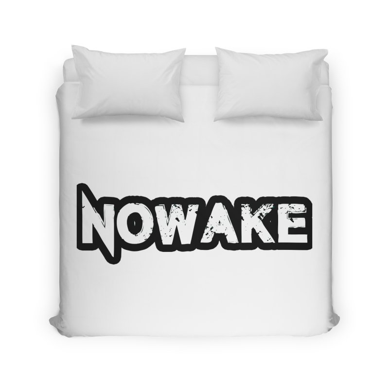 NOWAKE Black Outline Logo Home Duvet by NOWAKE's Artist Shop