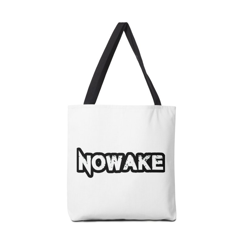 NOWAKE Black Outline Logo Accessories Tote Bag Bag by NOWAKE's Artist Shop