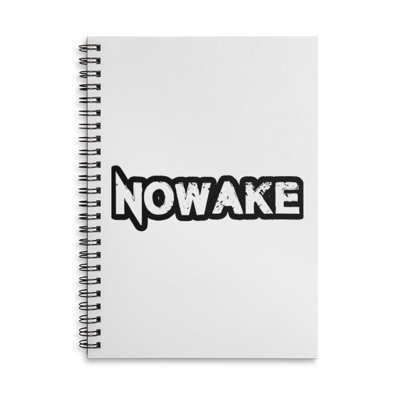 NOWAKE Black Outline Logo Accessories Notebook by NOWAKE's Artist Shop