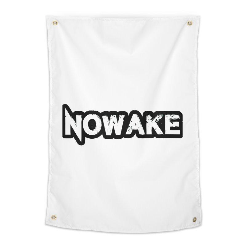 NOWAKE Black Outline Logo Home Tapestry by NOWAKE's Artist Shop