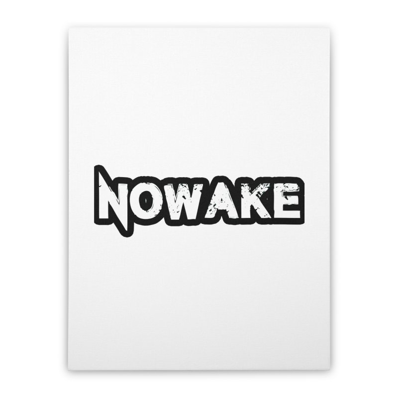 NOWAKE Black Outline Logo Home Stretched Canvas by NOWAKE's Artist Shop