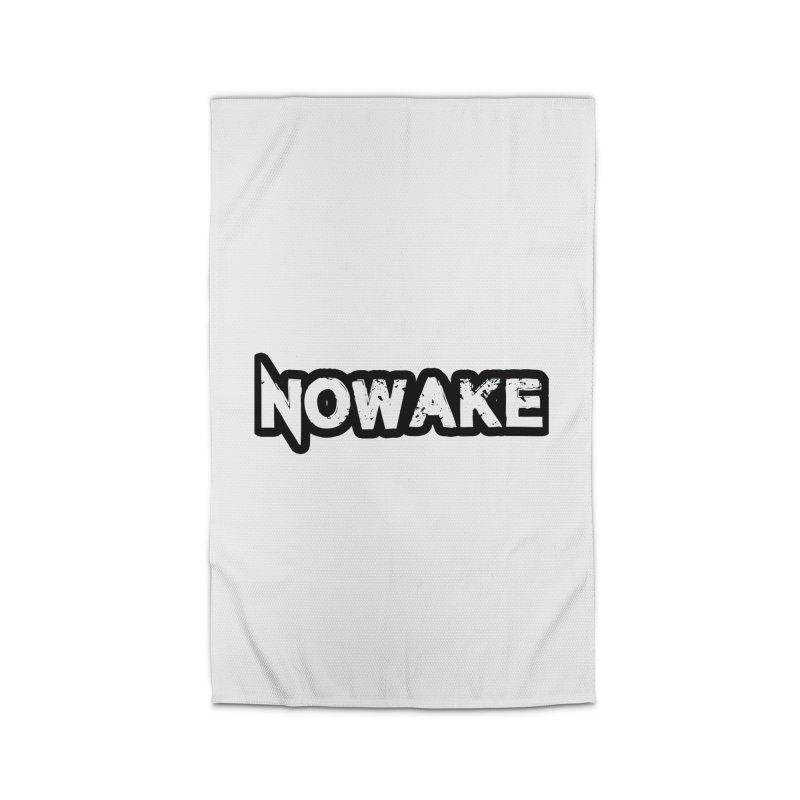 NOWAKE Black Outline Logo Home Rug by NOWAKE's Artist Shop