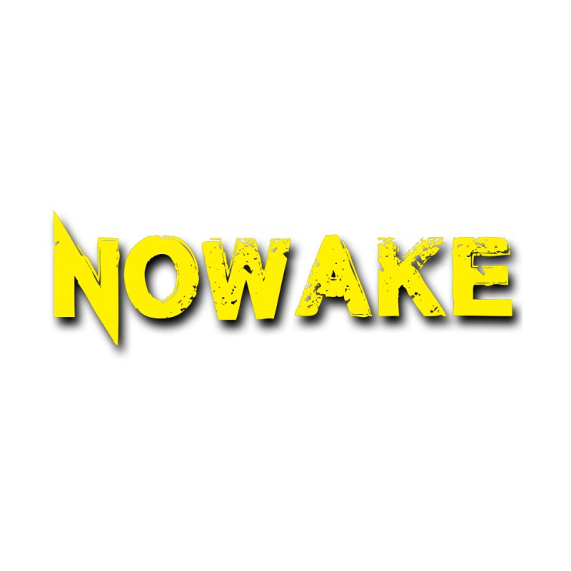 NOWAKE Yellow Drop Shadow Logo Home Shower Curtain by NOWAKE's Artist Shop